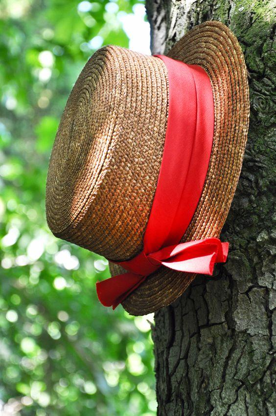 chapeau de paille mariee guinguette
