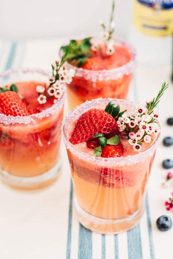 cocktail de fraise