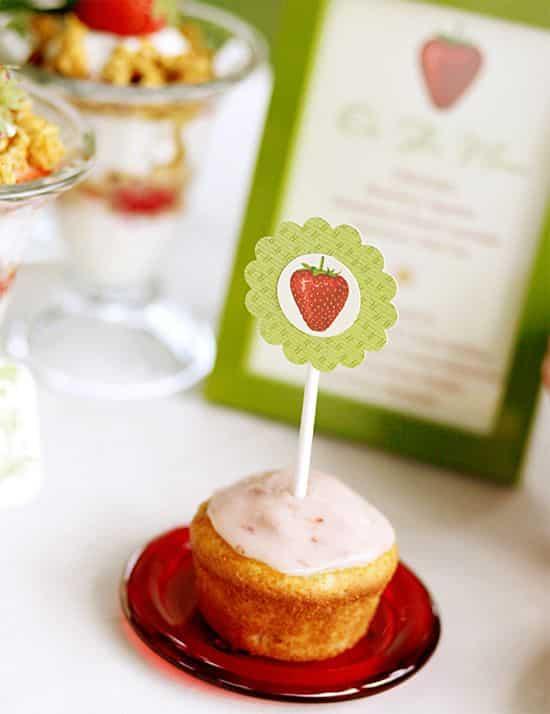 cupcake a la fraise