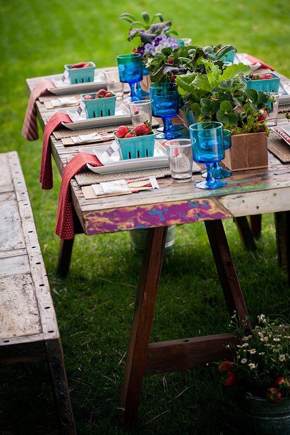 decoration mariage barquette de fraise