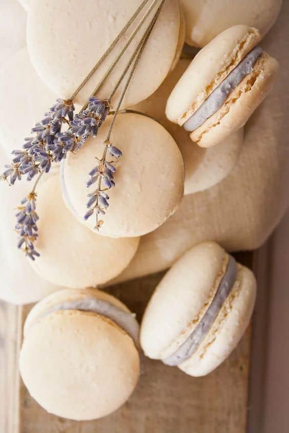 macaron lavande