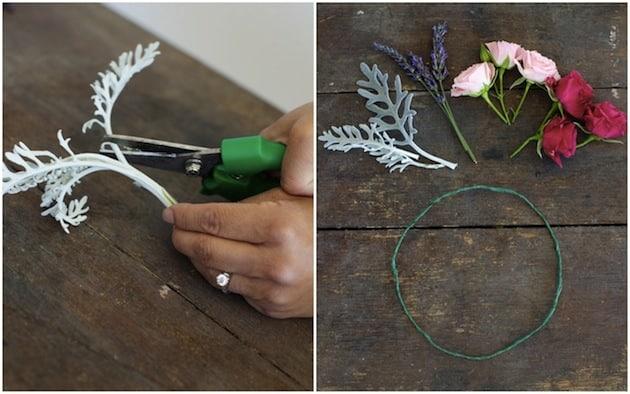préparation fleurs