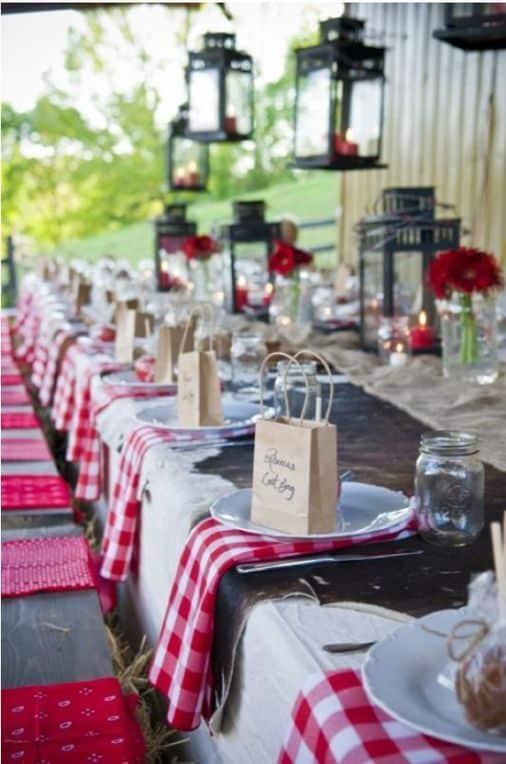 reception mariage guingette