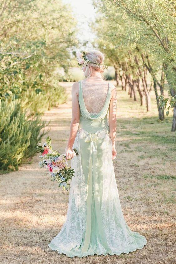 robe de mariee couleur menthe a l eau