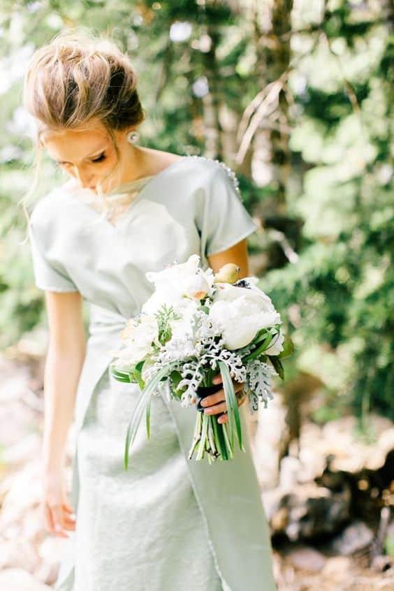 robe de mariee vert menthe a l eau
