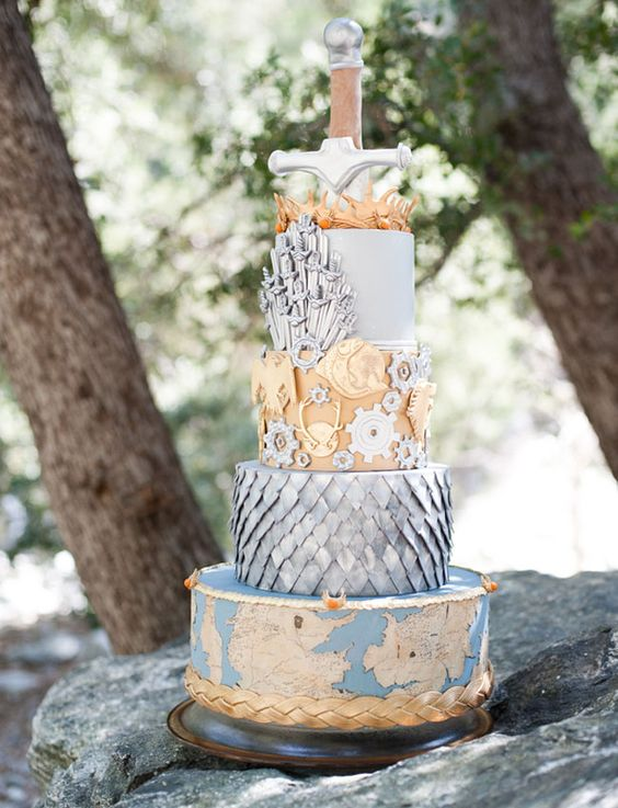 wedding cake game of thrones