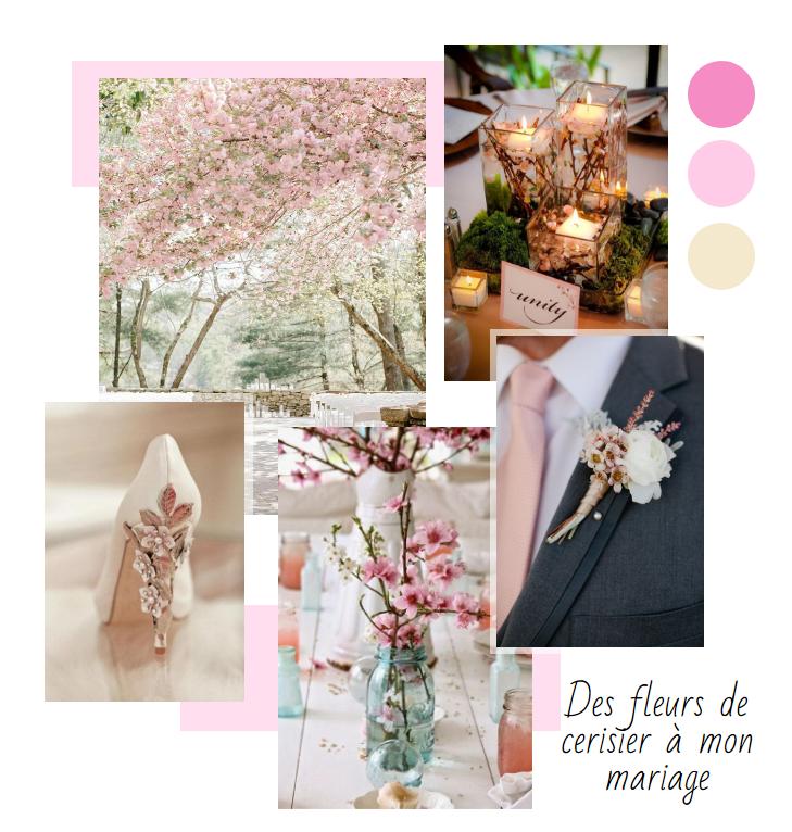 Moodboard fleurs de cerisier 2