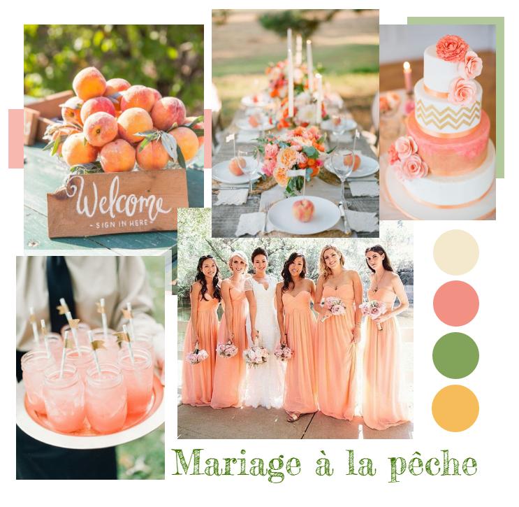 Mon mariage couleur p che une r ception plein de pep 39 s et de gourmandise - Couleur mariage 2017 ...