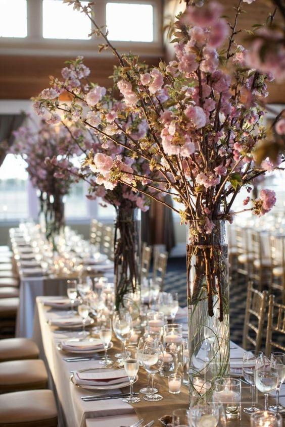 art de la table fleur de cerisier
