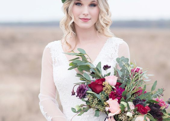 bouquet de rose mariée