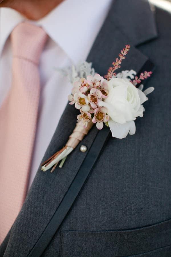 boutonniere mari fleur de cerisier