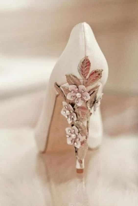 chaussure mariee mariage fleur de cerisier