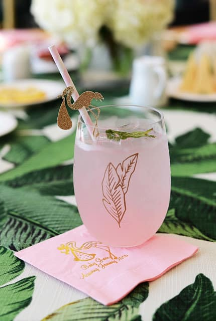 cocktail rose mariage flamant rose