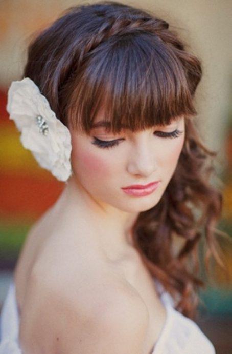 coiffure de mariee avec frange
