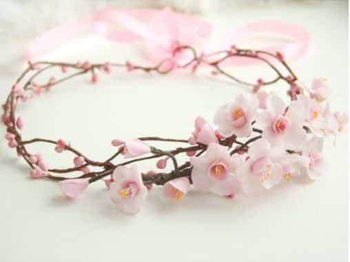couonne de fleur de cerisier