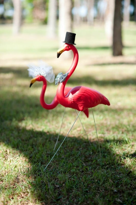 decoration mariage flamant rose