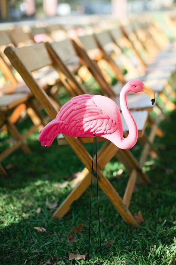 flamant rose decoration mariage