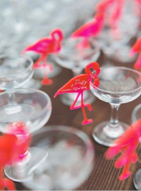flammant rose cocktail mariage