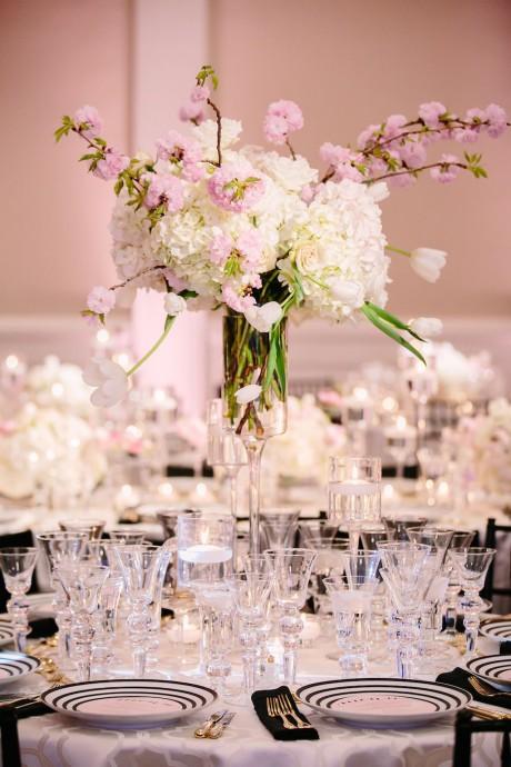 fleur de cerisier centre de table mariage