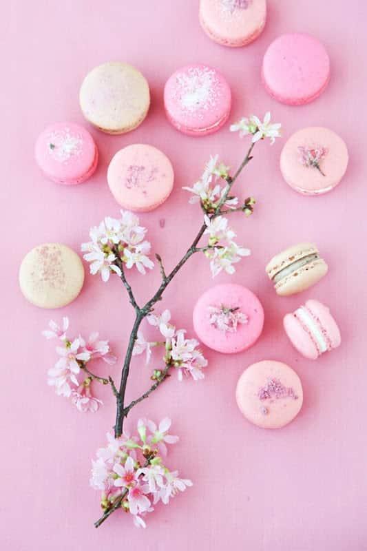 macaron dessert mariage fleur de cerisier