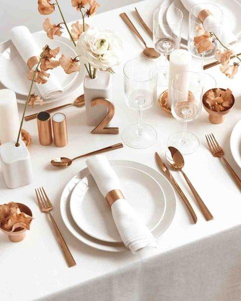 mariage art de table cuivre