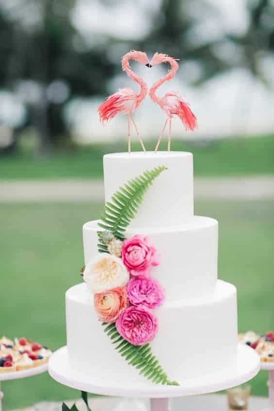 piece montee mariage flammant rose