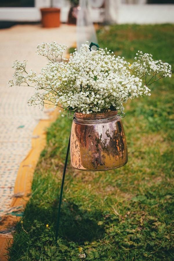 vase extérieur cuivre deco mariage