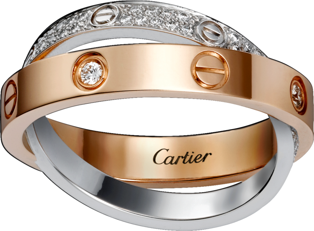 Bague Love pavée, Cartier