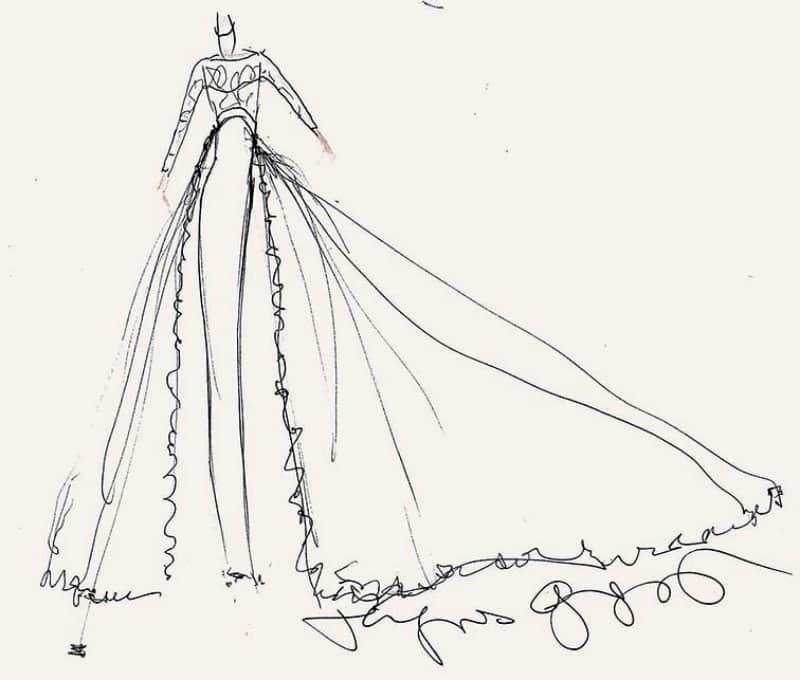 robe de mariée de pippa middleton selon Jacques Azagury