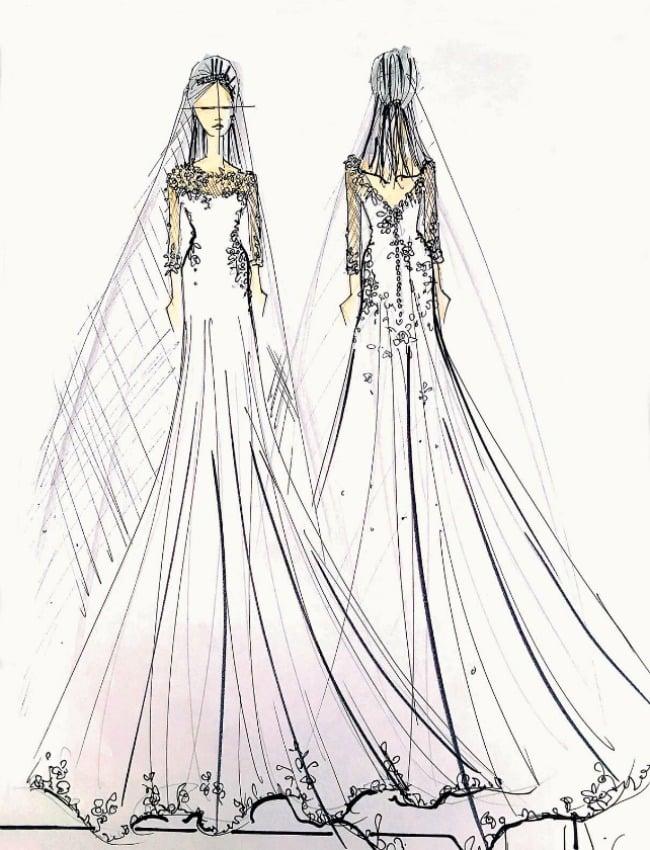 robe de mariée de pippa middleton selon le créateur américain ben de lisi