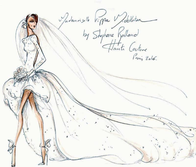 robe de mariée de pippa middleton selon stephane rolland