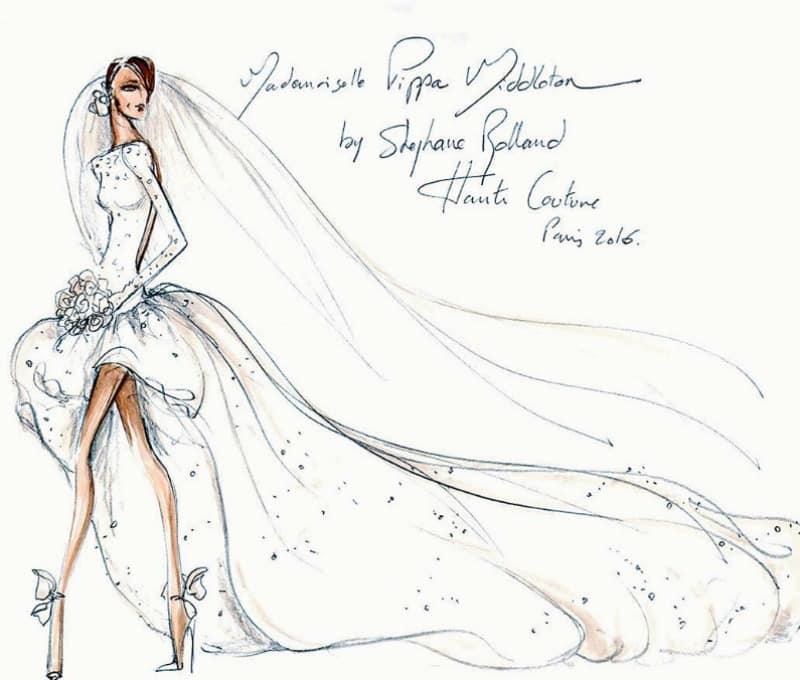 robe de mariée de pippa middleton selon stephane rolland