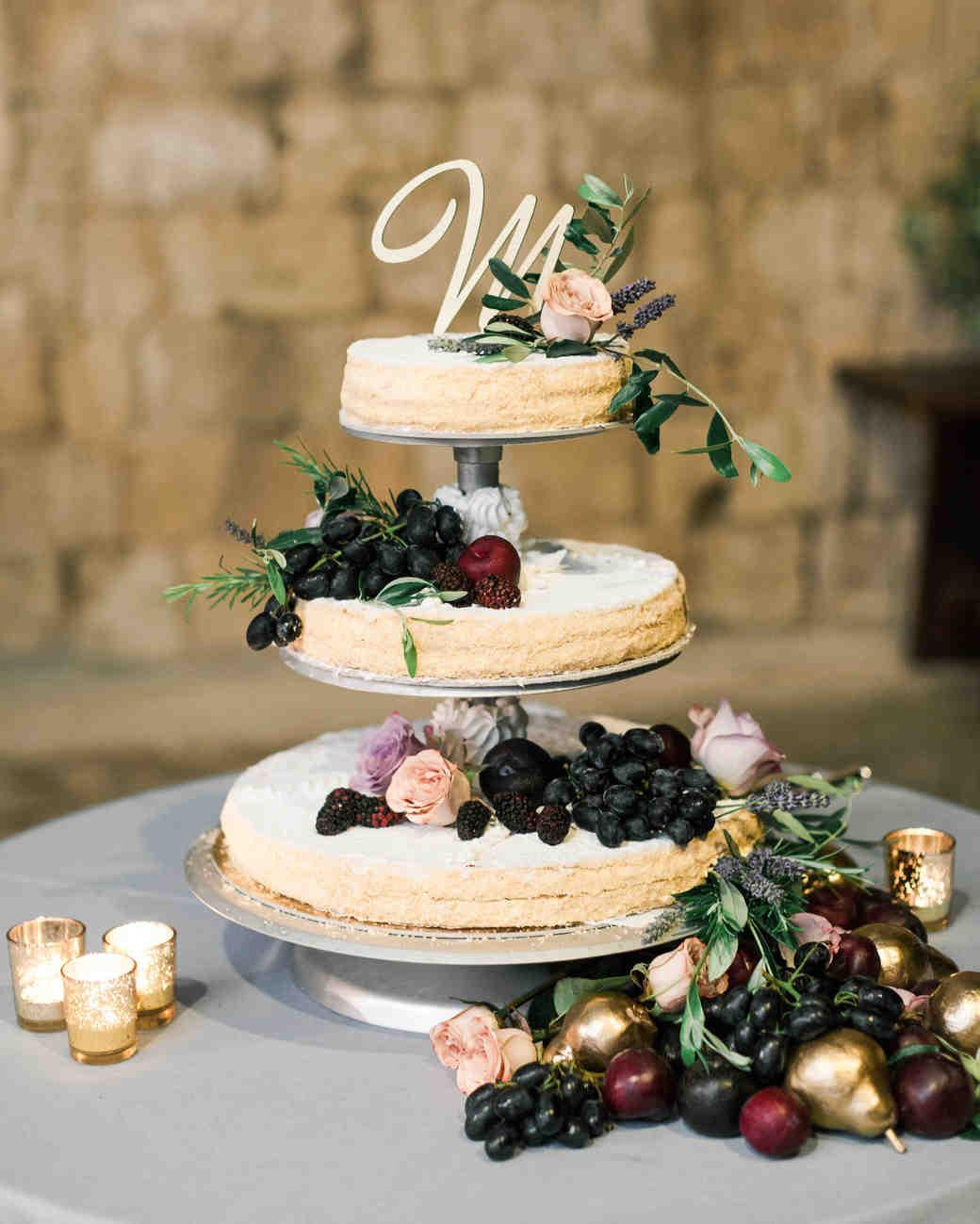 Naked cake et fruits d'automne