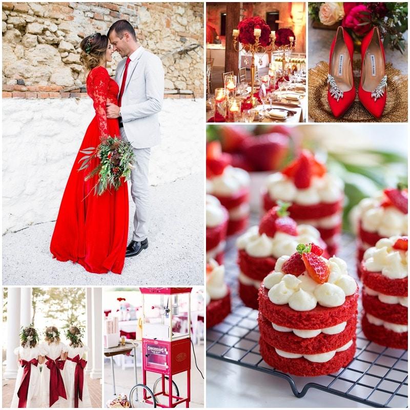 Planche mariage thème rouge