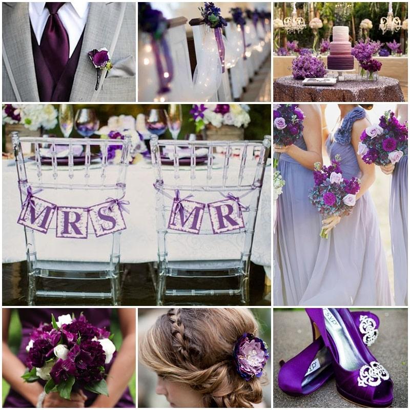 Planche mariage thème violet