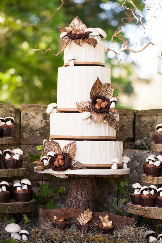 Wedding cake champignon
