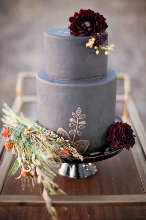 Wedding cake gris