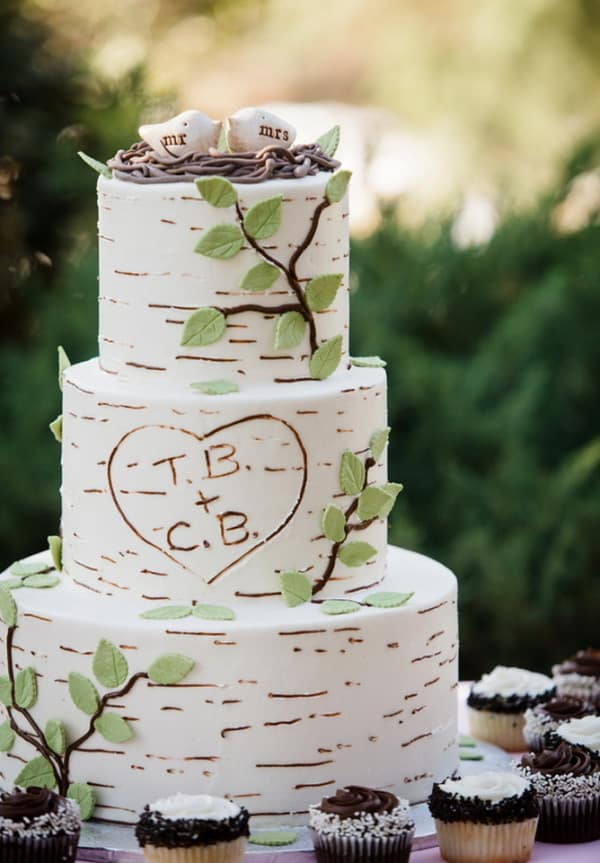 Wedding cake imitation arbre