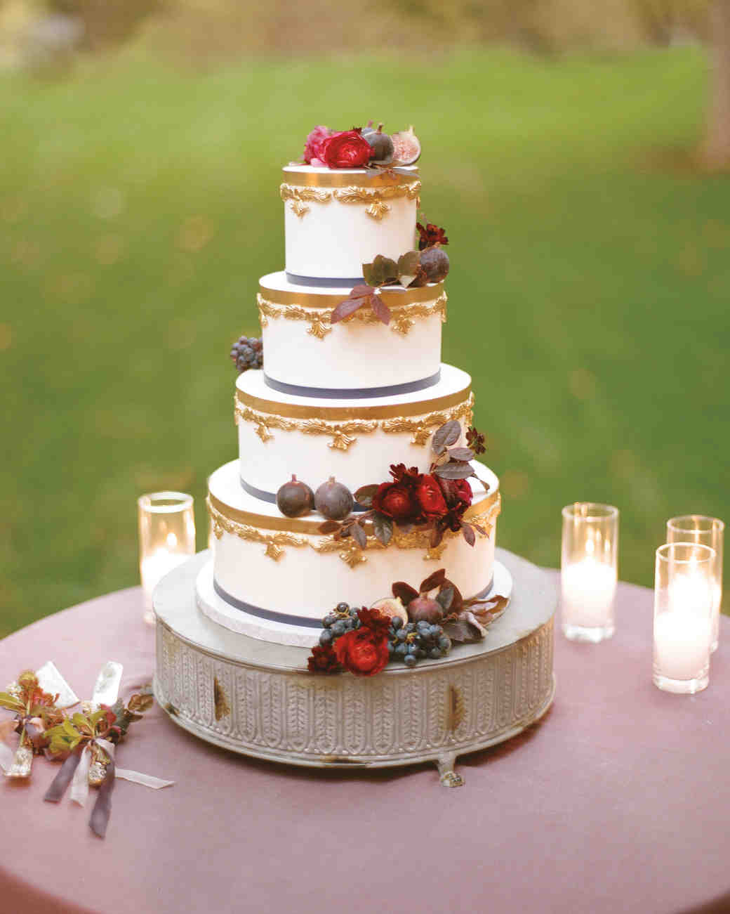 wedding cake automne
