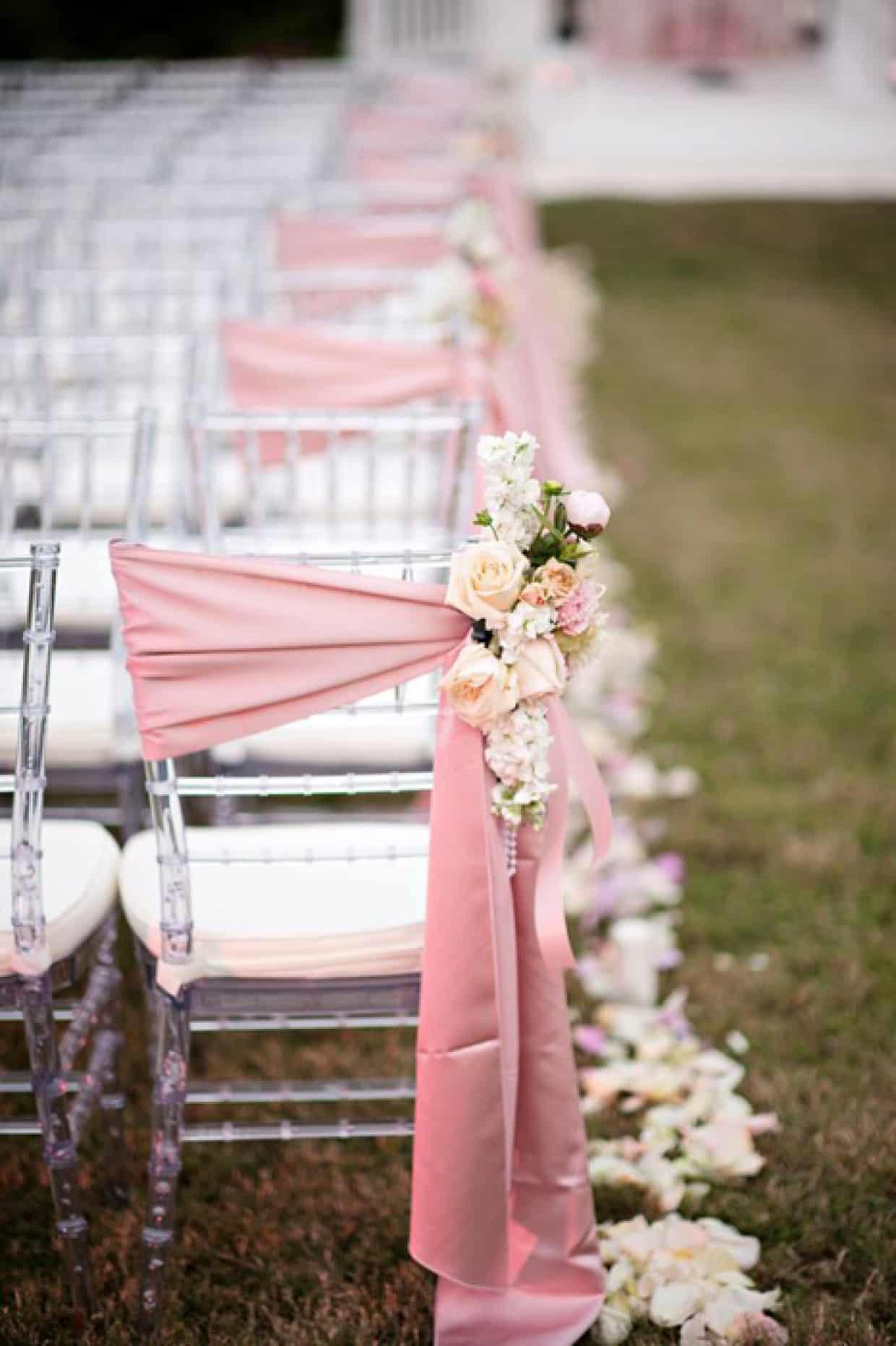 Mariage thème rose pâle 17
