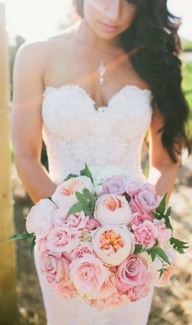 Mariage thème rose pâle 7