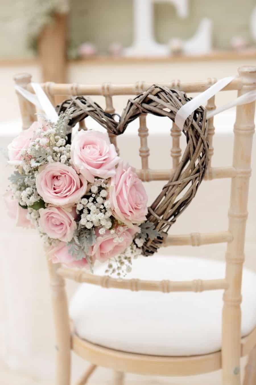 Mariage thème rose pâle 8