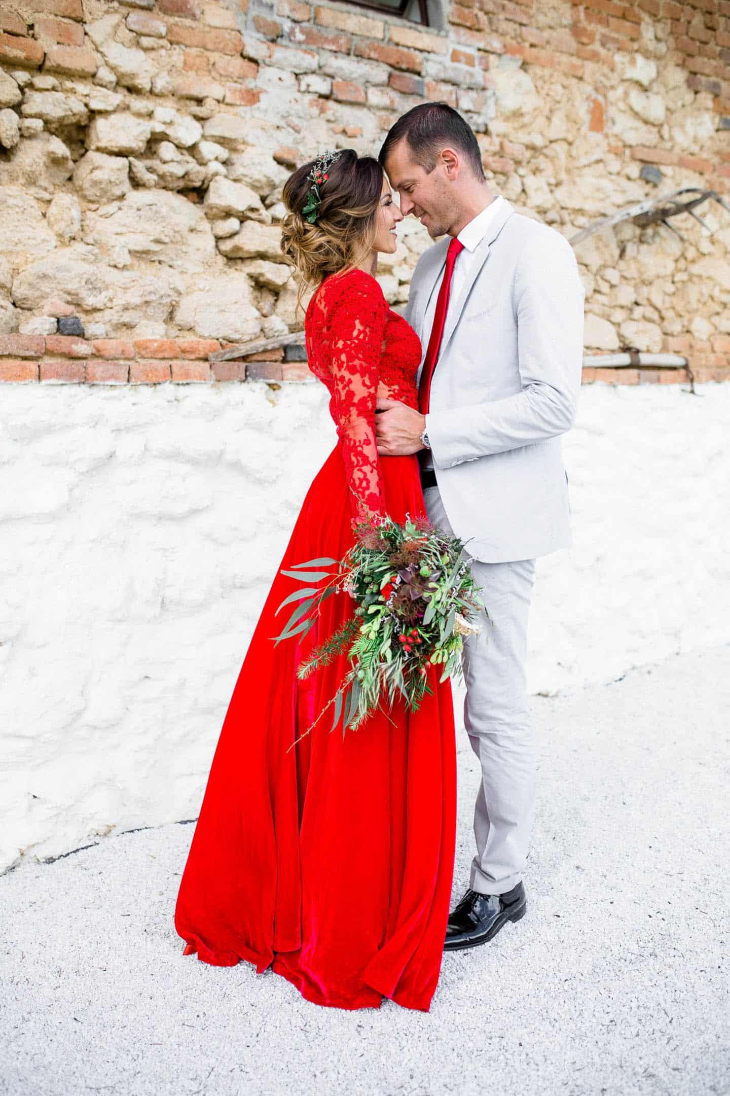 Mariage thème rouge 11