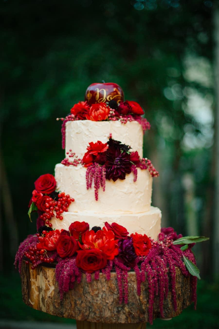Mariage thème rouge 16