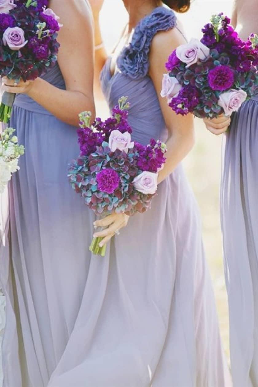 Mariage thème violet 1