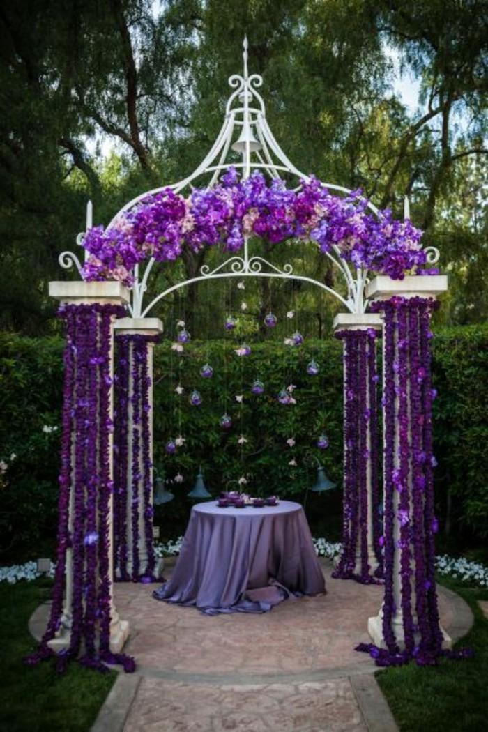 Mariage thème violet 13