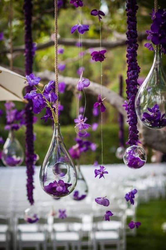 Mariage thème violet 14