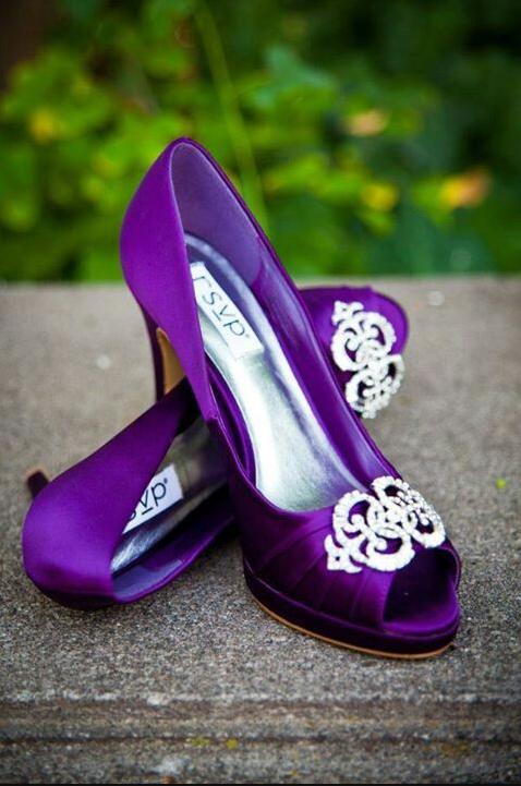 Mariage thème violet 15