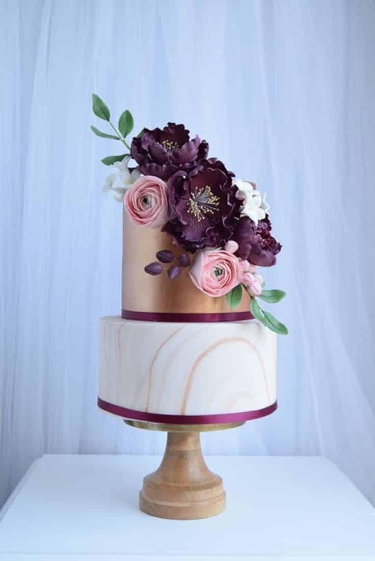 Mariage thème violet 18