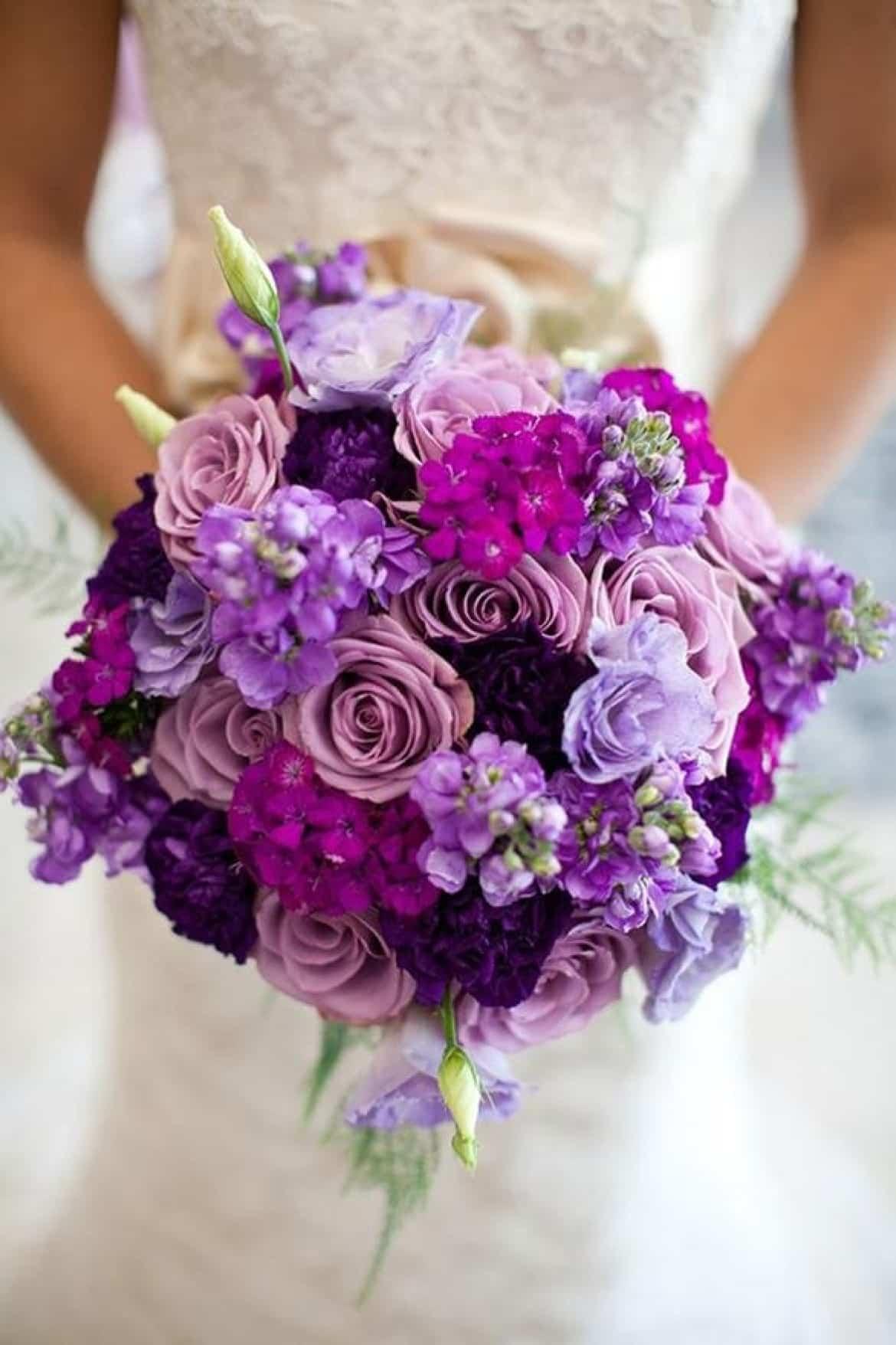 Mariage thème violet 19